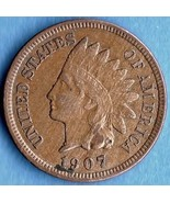 1907 Indian Head Penny Cent USCoin - $7.00
