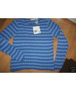Ladies Liz Claiborne Blue Stripe Stretch Heavy ... - $16.99