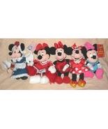 5 Different Disney  Plush Bean Bag Minnie Mouse - $20.00