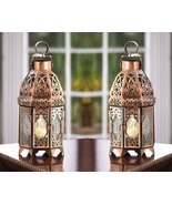 Copper Moroccan Candle Lanterns Lot of 2 - $21.00