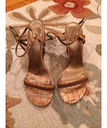 Nine West Tan Ankle Erap Wedges Size 6.5 Pre-owned - $10.49