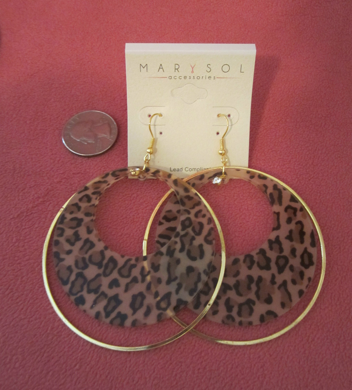 FASHION ZEBRA OR LEOPARD HOOP EARRINGS