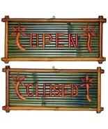 Real Bamboo OPEN/CLOSED Tiki Bar-Retail Sign - $38.00