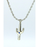 Sterling Silver Handmade Cactus pendant with la... - $190.00