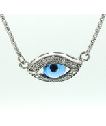 Sterling Silver Eyeball Pendant with CZ's and A... - $169.00