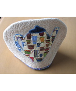 Quilted Tea Cosy Machine Quilting Hand Applique... - $7.94