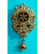 Vintage 1980s Victorian Brooch with Fob - $10.00