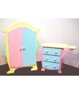 Tolly Tots Tollytots Doll Furniture Wardrobe/Ar... - $75.00