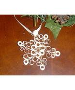 Paper Quill Cream Rustic Snowflake Ornament- Ha... - $7.95