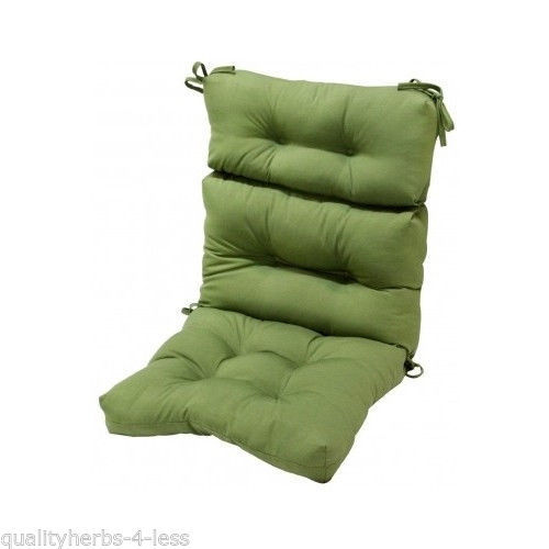 Replacement Patio Chair Overstuffed Cushion High Back Indoor Outdoor Furnitur