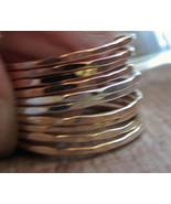 Skinny stacks 14K yellow gold filled/rose gold ... - $98.01