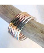 Handmade stack bands set of 10 14K gold filled ... - $110.88