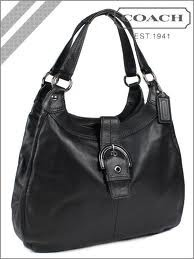 Coach F17092 Soho Large Black Leather Hobo  On Sale
