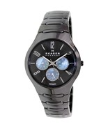 Skagen Denmark Women Ceramic Black Watch 817sx... - $258.00
