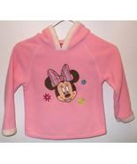 Girls Disney Pink Fleece Long Sleeve Hooded Top... - $8.50
