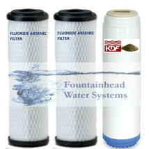 2 Bone Char Fluoride/Arsenic Carbon Filters 1 Carbon Kdf Heavy Metals Filter - $55.44