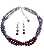 Pretty Purple Jewelry Set In Gorgeous Colors Pl... - $19.08