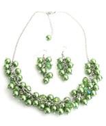 Cluster Necklace Grape Earrings In Kelly Green ... - $21.18