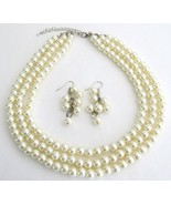 Beautiful Designed Jewelry Ivory Pearl Wedding ... - $19.66