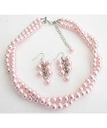 Wedding Bridesmaid Bridal Jewelry Stunning Pink... - $19.23