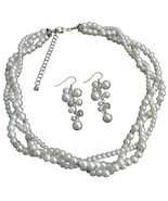 Impressive Bridal Jewelry In Rich White Pearl R... - $24.83
