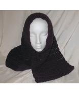 Handmade Hand Crocheted Deep Violet Cowl Hat Sc... - $26.00