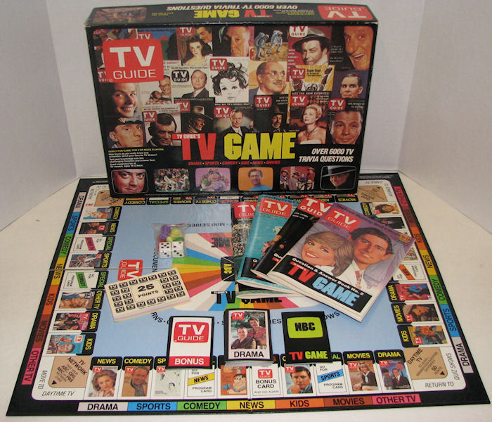vintage 1984 tv guide tv trivia board game ebay. Black Bedroom Furniture Sets. Home Design Ideas