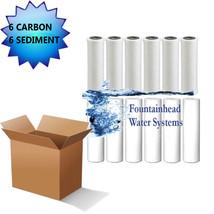 6 Carbon Block Filters 6 Sediment Filters 5 Micron 2.5X9.75