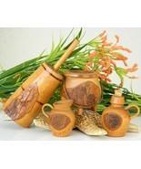 Vintage_folk_art_kitchen_miniature_wood_bark_nc_churn_jug_pitcher_pot_thumbtall