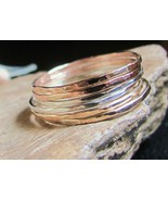 Skinny stack rings 14K gold filled & st.silver ... - $87.12