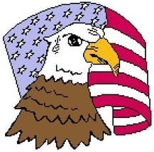 Eagle and Flag Color Graph Afghan Pattern - $4.00