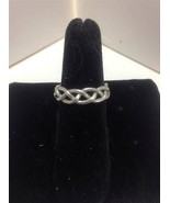 STERLING SILVER Braided Wire Band Ring Sz 5.75 ... - $13.50