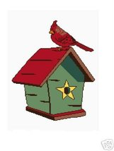 Cardinal and Birdhouse Crochet Graph Afghan Pat... - $4.00