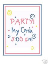 Party Baby Crochet Graph Afghan Pattern - $3.75