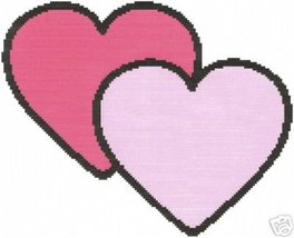 Simple Hearts Crochet Graph Afghan Pattern - $3.75