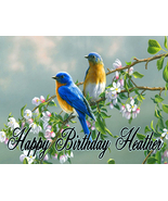 Blue Birds Custom Cake Topper  Frosting Sheet - $7.99