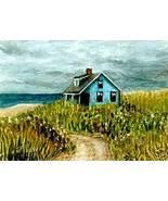 ACEO art print Sea View #70 beach house by L.Dumas - $4.99