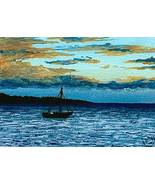 ACEO art print Sea View #62 sunset by L.Dumas - $4.99