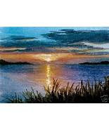 ACEO art print Sea View #69 sunset by L.Dumas - $4.99