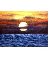 ACEO art print Sea View #23 sunset by L. Dumas - $4.99