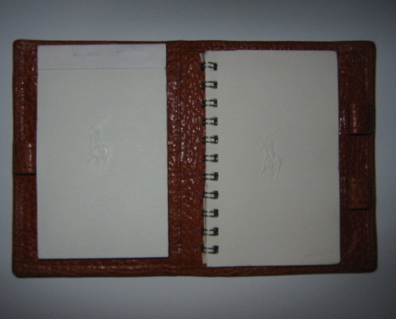 Ralph Lauren Vintage Tan Leather Address Book