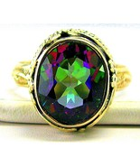 Faceted Azotic Rainbow Topaz Sterling Silver Ri... - $75.84