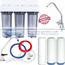 Clear Triple Under Sink Fluoride/Arsenic/Chloramine Filters. Choice Of Faucets! - $93.00