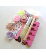 Rainbow Kawaii 3D Nail Art Creation Kit Glitter... - $20.00