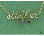 Buy Personalized Name Necklace Swarovski Birthstones Jewelry