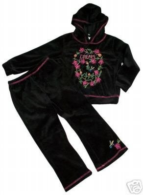 SOFI Velour Yoga Style DREAM Athletic Top Pants Set BOUTIQUE Girl 4T Brand