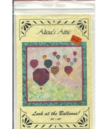 Pieced Quilt Pattern Hot Air Balloons Wallhangi... - $4.93