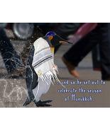 Penguin Hanukkah Holiday Card - $3.25
