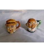 Toby Mug Style Salt and Pepper Shakers Vintage ... - $6.99