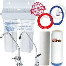 2 Stage Sed/Kdf/Carbon Filter Heavy Metals/Chlorine/Vo Cs.  Choice Of  Faucets! - $62.95